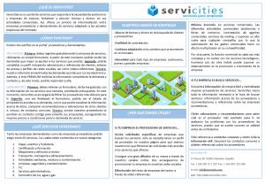 Presentación Servicities